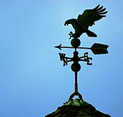 Weathervane Posters - Eagle Weathervane Poster by Eric Tressler