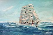 Coast Guard Painting Posters - Eagle Poster by Perrys Fine Art