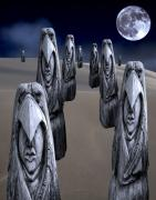 Desert Digital Art - Eagleman Poles by Keith Dillon