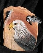 Featured Reliefs - Eagles Head by Margaret A Clark Price
