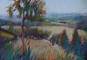Plains Pastels Originals - Eagles Lookout by Pamela Pretty