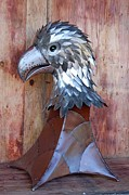 Bird Of Prey Sculpture Posters - Eaglet Poster by Ben Dye