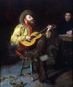 Playing The Guitar Framed Prints - Eakins: Home Ranch, 1892 Framed Print by Granger