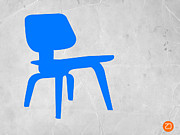 Kids Prints Digital Art Prints - Eames blue chair Print by Irina  March