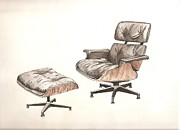 Chair Drawings - Eames Original by Brian Ashby