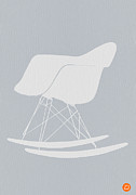 Baby Room Metal Prints - Eames Rocking Chair Metal Print by Irina  March