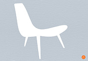 Midcentury Acrylic Prints - Eames white chair Acrylic Print by Irina  March