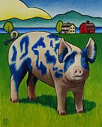 Pig Art - Earl of Whidbey by Stacey Neumiller