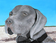 Barking Painting Metal Prints - Earl Metal Print by Patrick Kelly