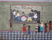 Earls Blues Band Print by Gregory Davis