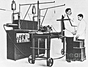 Radiogram Posters - Early 20th Century X-ray Machine Poster by Science Source