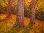 Impasto Paintings - Early Autumn 2011 by Terry Perham