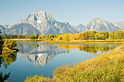 Bob And Nancy Kendrick Prints - Early Autumn at Oxbow Bend Print by Bob and Nancy Kendrick