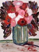 Pennsylvania Drawings - Early Autumn Bouquet by Mary Carol Williams