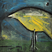 Yellow Beak Paintings - Early Bird At Sunrise by Tim Nyberg