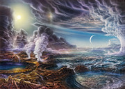 Natural Painting Metal Prints - Early Earth Metal Print by Don Dixon
