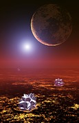 Extrasolar Planet Photos - Early Earth-like Planet, Artwork by Take 27 Ltd