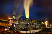 Steam Engine Photos - Early Evening on the Turntable by Ken Smith