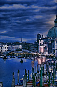 City Venice Italy Framed Prints - Early Evening Venice Framed Print by Tom Prendergast