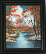 Snow-covered Landscape Originals - Early Fall Mountain by Richard Mauer
