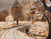 Events Painting Originals - Early Fall Snow by Jack G  Brauer