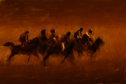 Horse Racing Prints Posters - Early Gallop Poster by Brian Tones