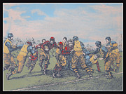 Early Drawings Originals - Early Gridiron Americas Game 1905 by Jon Prusmack