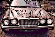 Hand Crafted Art - Early Jaguar XJ6 by George Pedro