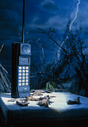 Retro Phone Photos - Early Mobile Phone by Tony Mcconnell