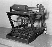 Typewriters Photos - Early Model Of A Scoles And Glidden by Everett