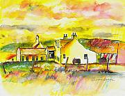 Houses Art - Early Morning by Arline Wagner