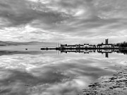 Argyll Posters - Early morning at Inverary black and white version Poster by Gary Eason