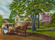 Gallery Painting Originals - Early Morning Delivery by Charlotte Blanchard