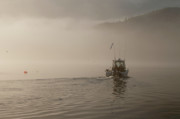 Chad Davis Acrylic Prints - Early Morning Fishing Boat Acrylic Print by Chad Davis