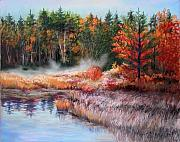 Fall Pastels - Early morning fog  by Nita Leger Casey