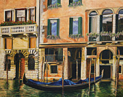 Canal Painting Originals - Early Morning in Venice by Charlotte Blanchard