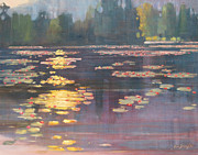 Berkshires Paintings - Early Morning by Len Stomski
