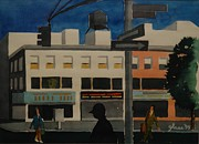Streetscape Paintings - Early Morning by Lester Glass