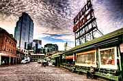 Pike Place Art - Early Morning Market by Spencer McDonald