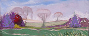 Gifts Pastels Originals - Early Morning On Woolie by Jane Wilcoxson