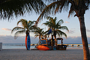 Beach Scene Photos - Early Morning Peace in Key West by Susanne Van Hulst
