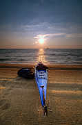 Sandy Point Park Prints - Early Morning Row Print by Edward Kreis