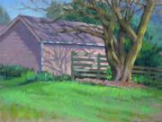 Shed Pastels - Early Morning Shadows by Jill Stefani Wagner