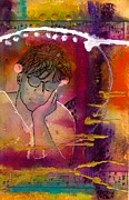 Songwriter Mixed Media Posters - Early Morning Songwriter Poster by Angela L Walker
