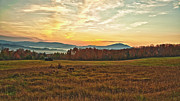Mountains Mixed Media - Early Morning Sunrise in the White Mountains New Hampshire by Colleen Crowley