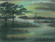 Early Morning Pastels Prints - Early Morning Sunrise Print by Shelby Kube