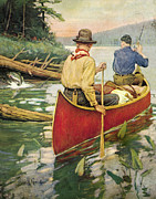 Canoe Prints - Early Morning Thrill Print by JQ Licensing