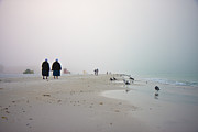 Siesta Key Prints - Early Morning Walk Print by Betsy A Cutler East Coast Barrier Islands