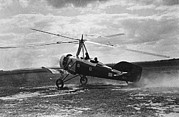Pioneers Framed Prints - Early Soviet Autogyro, 1932 Framed Print by Ria Novosti