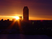 Headquarters Digital Art Originals - Early Sunrise in Long Island City by Alton  Brothers